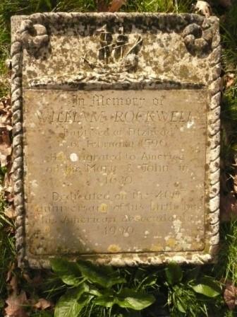 William Rockwell memorial head stone