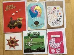 Embossed greetings cards