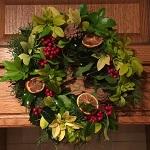 Christmas dried fruit wreath
